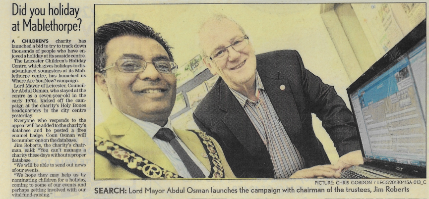 Former Leicester mayor fondly remembers his holiday with our charity